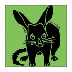 Bilby on Lime-Green T-Shirt