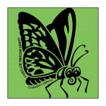 Butterfly on Lime-Green T-Shirt