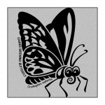 Butterfly on Grey-Marle clothing