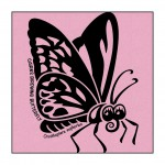 Butterfly on Light-Pink clothing