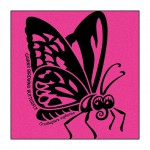 Butterfly on Hot-Pink T-Shirt