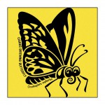 Butterfly on Yellow T-Shirt
