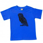 Kids Tee Blue Owl (This colour is darker than the Bright-Blue)