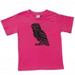 Kids Tee Pink Owl