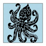 Octopus on Light-Blue clothing