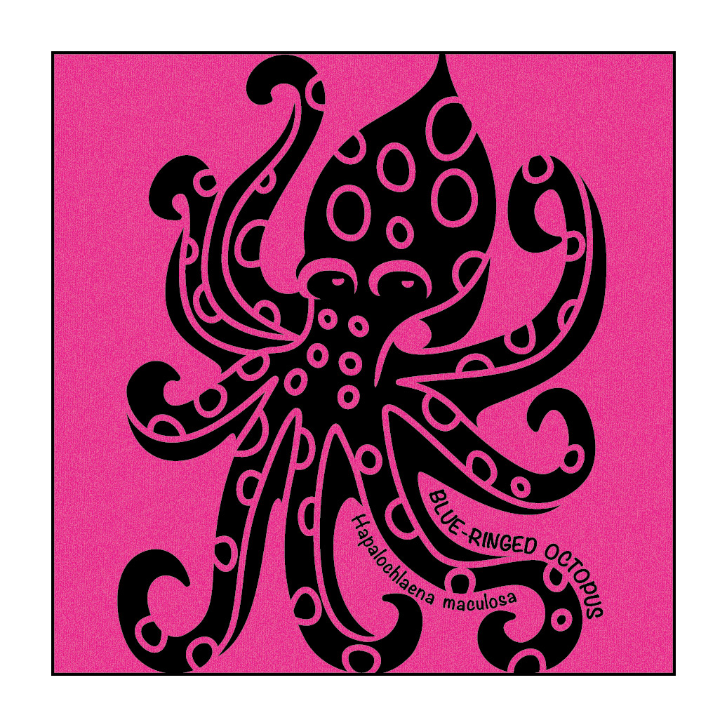 Shirt design octopus - Octopus On Hot Pink T Shirt