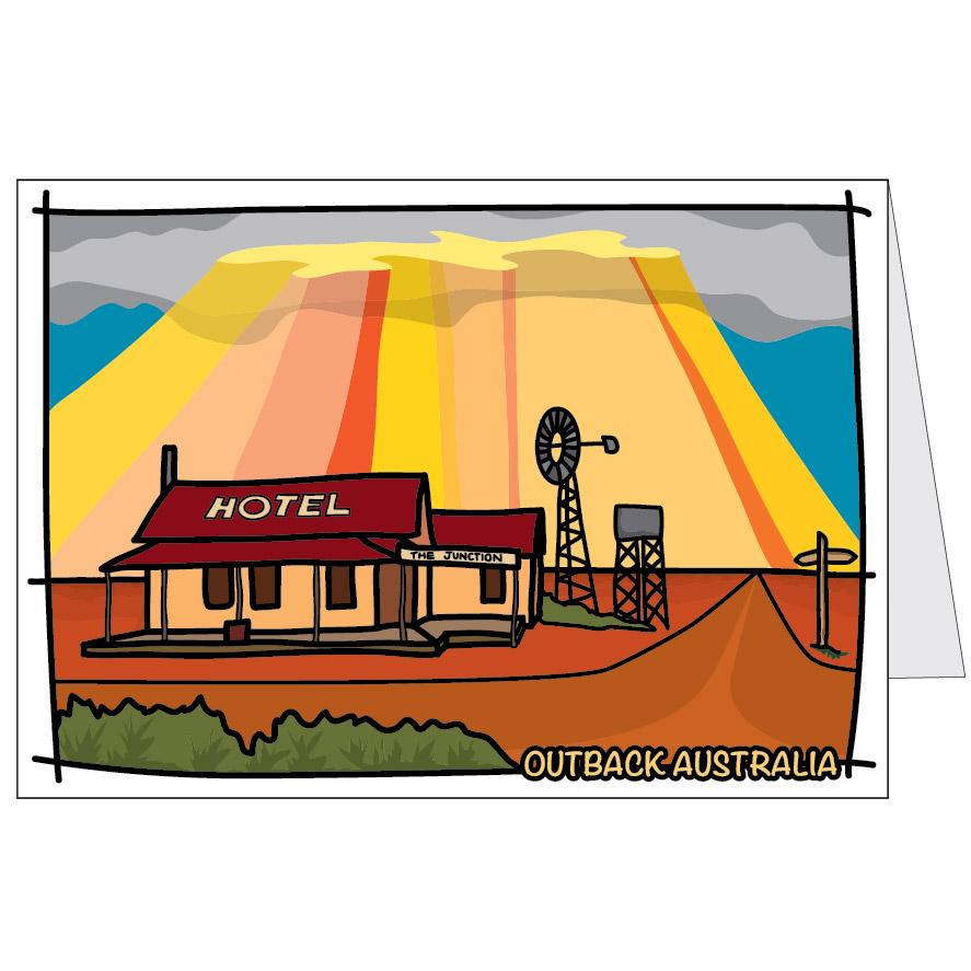 Outback Australia Card Bold Australia