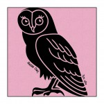 Owl on Light-Pink clothing