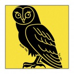 Owl on Yellow T-Shirt
