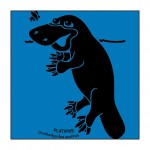 Platypus on Bright-Blue T-Shirt
