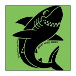 Shark on Lime-Green T-Shirt