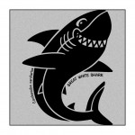 Shark on Grey-Marle clothing
