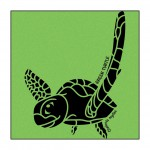 Turtle on Lime-Green T-Shirt