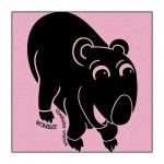 Wombat on Light-Pink clothing