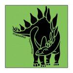 Stegosaurus Green